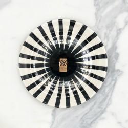 Assiette Ø23cm ray noir Casa Cubista