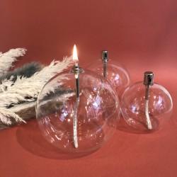 Lampe à huile sphère en verre XL