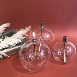 Lampe à huile sphère en verre M