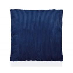 Coussin en velours côtelé bleu