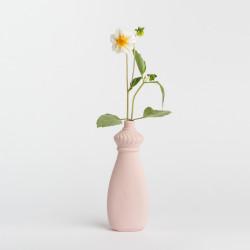 Vase bouteille en porcelaine rose N15