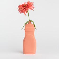 Vase bouteille en porcelaine saumon N°19