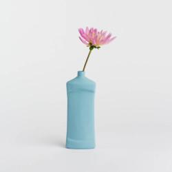 Vase bouteille en porcelaine bleu N°14