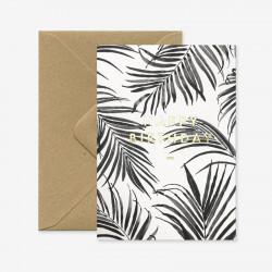 Carte Happy Birthday Palm Tree