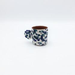 Tasse à espresso Chroma Bleu & bleu canard Casa Cubista