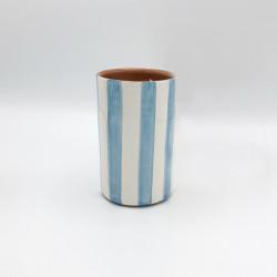 Tumbler rayé bleu aqua Casa Cubista