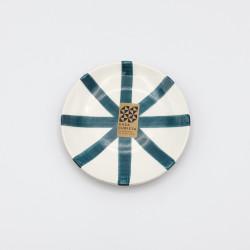 Mini assiette Ø12cm segment bleu canard Casa Cubista