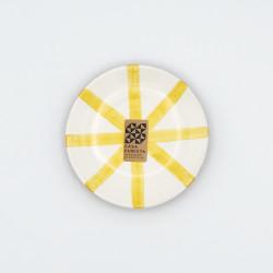 Mini assiette Ø12cm segment jaune Casa Cubista