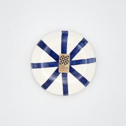 Mini assiette Ø12cm segment bleu Casa Cubista