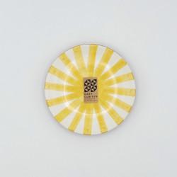 Mini assiette Ø12cm ray jaune Casa Cubista