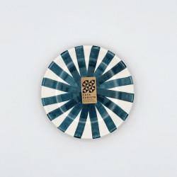 Mini assiette Ø12cm ray bleu canard Casa Cubista