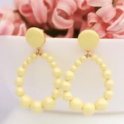 Boucles d'oreilles Suzy jaunes
