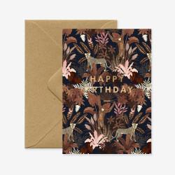 Carte Joyeux anniversaire Singe