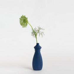 Vase bouteille en porcelaine bleu nuit N°15