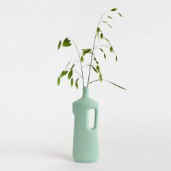 Vase bouteille en porcelaine vert menthe N°16