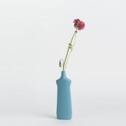 Vase bouteille en porcelaine bleu foncé N°1