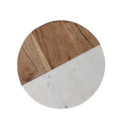 Planche à découper en bois et marbre Gya