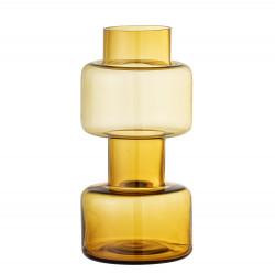 Vase en verre jaune Benette