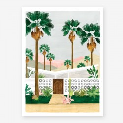 affiche Palm Spring all the ways to say