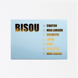 Carte Bisou Chaton