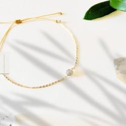 Bracelet Labradorite plaqué or 18k