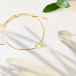 Bracelet Citrine plaqué or 18k
