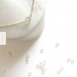 Bracelet Aqua aura plaqué or 18k