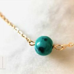 Bracelet Chrysocolle plaqué or 18k