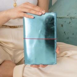 Organizer de voyage en cuir bleu céruléen