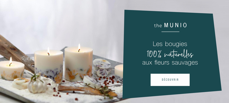 Les bougies 100% naturelles aux fleurs sauvages
