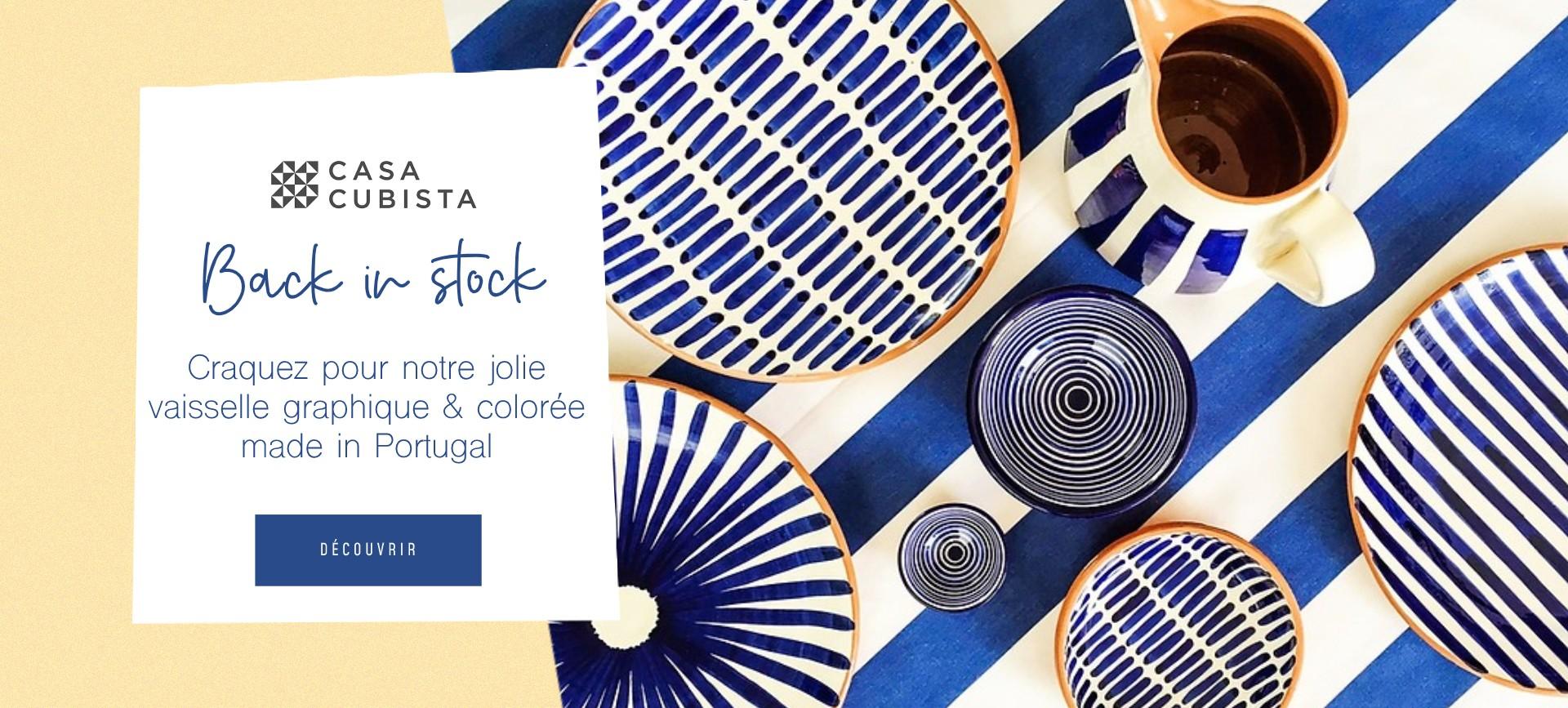 Craquez pour notre jolie vaisselle graphique & colorée made in Portugal